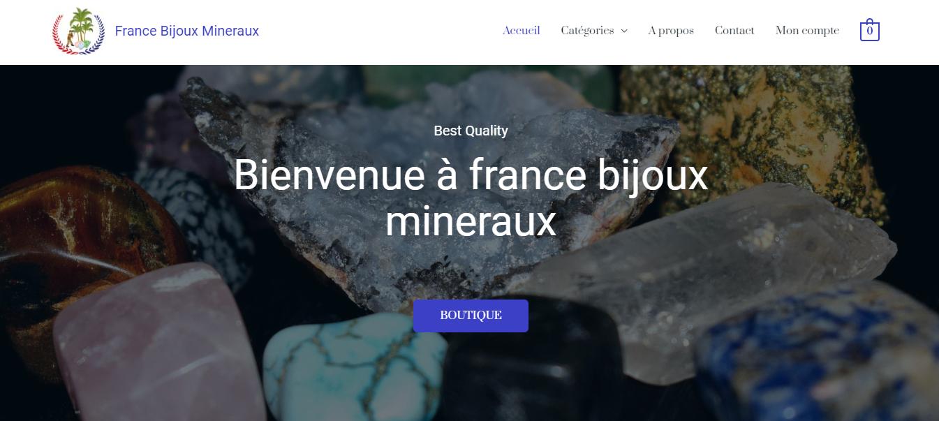 France bijoux minéraux